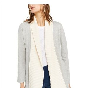 INC Mixed Stitch Cable Knit Open Cardigan Small